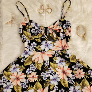 New Forever 21 Small Floral Fit and Flare Dress